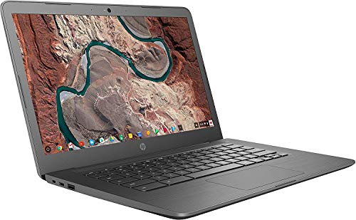 2020 HP Chromebook 14' IPS HD (1366x768) Laptop PC, Intel Celeron N3350 Dual-Core Processor, 4GB RAM, 32GB eMMC, WiFi, Bluetooth, Chrome OS, Gray