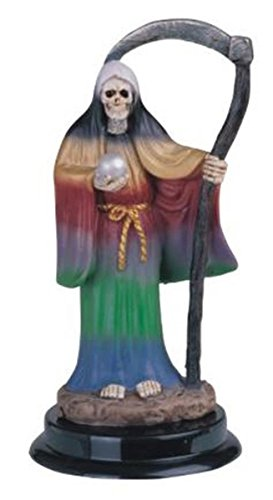 5 Inch Rainbow Santa Muerte Saint Death Grim Reaper Statue Figurine