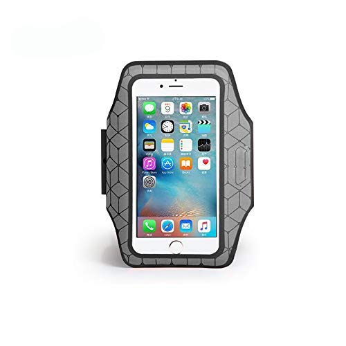 HOKANG Water Resistant,Full Reflection,Touch Operation,Cell Phone Armband Case for iPhone X, Xs,XR, Samsung Galaxy S9, S8, S7, S6,A8 with Double Adjustable Elastic Band for Running, Walking, Hiking