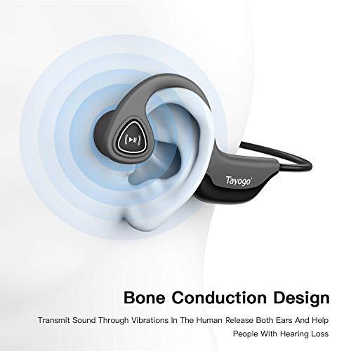 Tayogo S2 Casque Bluetooth Conduction Osseuse Ecouteurs Bluetooth sans Fil Oreille Ouverte(Open-Ear)...