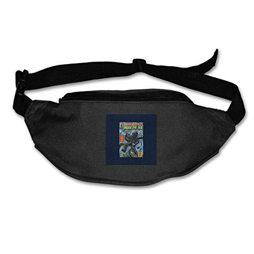 HKUTKUFGU Bauchtasche für Damen und Herren unter dem Meer, Comic-Tasche, Reisetasche, Bauchtasche für Laufen, Radfahren, Wandern, Workout