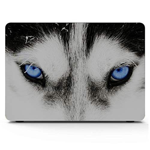 MacBook Accessories Funny Close-up Siberian Husky Accessories for MacBook Pro Hard Shell Mac Air 11'/13' Pro 13'/15'/16' with Notebook Sleeve Bag for MacBook 2008-2020 Version
