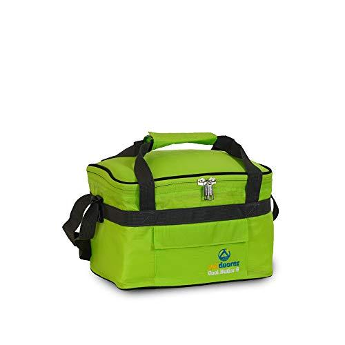 outdoorer Kleine Kühltasche Cool Butler 6, grün, mit Außentasche