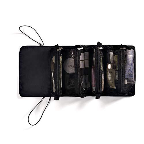 Bolsa De Maquillaje Enrollable, 4 Bolsas De Almacenamiento Extraíbles, Organice Maquillaje, Cosméticos, Primeros Auxilios, Medicamentos, Cuidado Personal, Baño, Porta Paletas/Pinceles