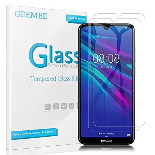 GEEMEE für Huawei Y6 2019 /Huawei Y6s 2019 Panzerglas Schutzfolie, 2 Stück 9H Filmhärte Gehärtetem Schutzglas Hohe Empfindlichkeit Bildschirmschutzfolie für Huawei Honor 8A(Transparent)