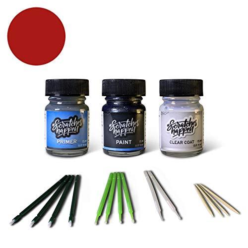 ScratchesHappen Exact-Match Touch Up Paint Kit Compatibel met Mercedes-Benz Imperial Rood/Peper Rood (582/3582) - Voorkeur