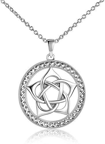 ZGYFJCH Co.,ltd Collares Pentagram Pentacle Colgante Collar Wiccan Joyas para Mujeres Hombres Regalos
