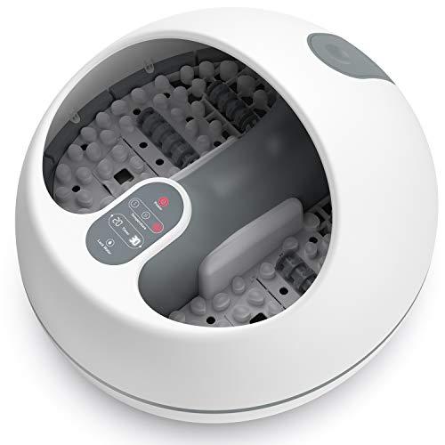 Baño de vapor para pies, RENPHO masajeador de pies sauna de pies con calentamiento rápido, sin verter agua, y 4 rodillos de masaje de pedicura, más efectivo y seguro que el baño de pies tradicional