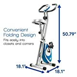 XTERRA FB150 Folding Exercise Bike, Silver