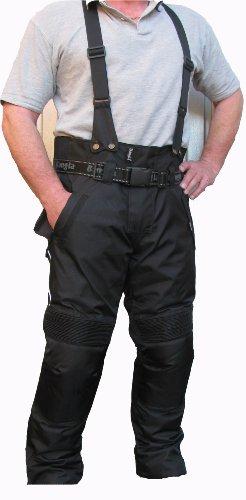 Bangla Motorrad Hose Cordura Schwarz Motorradhose mit Hosenträger Gr L