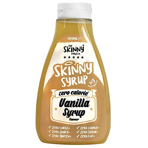 Skinny Sirup - zuckerfrei - kalorienfreier Sirup für Pfannkuchen, Waffeln, Desserts oder eiscreme (Vanille)