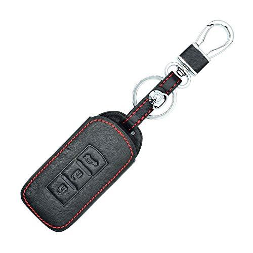 ZHAOHAOSC , Für Leder-Autoschlüsselabdeckung, Für Mitsubishi Outlander Lancer ASX RVR L200 Smart-Remote-Schutzhülle Tasche