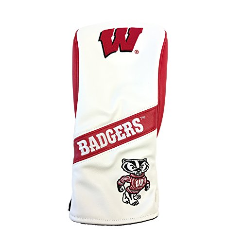 PRG Americas NCAA Wisconsin Badgers Leatherette Wood Driver Cover, White