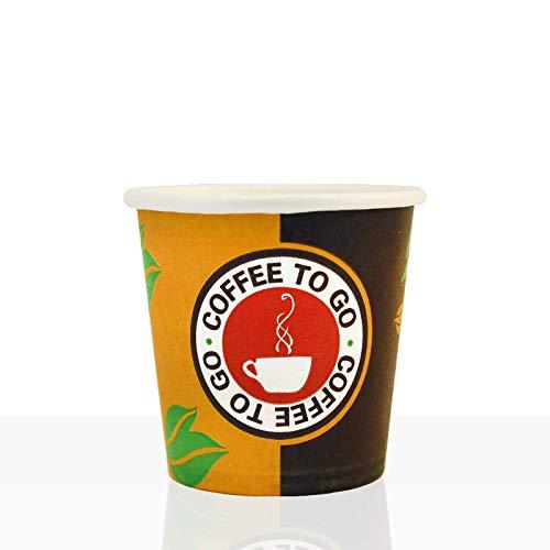 Coffee to go Espresso Becher aus Hartpapier 0,1l, 1000Stk, Pappbecher, Kaffeebecher to go