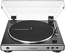 Audio-Technica AT-LP60XUSB-GM Fully Automatic Belt-Drive Stereo Turntable (Analog & USB), Gunmetal, Hi-Fidelity, Plays 33 -1/3 and 45 RPM Records, Convert Vinyl to Digital
