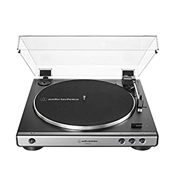 Audio-Technica AT-LP60XUSB-GM Fully Automatic Belt-Drive Stereo Turntable  Analog & USB  Gunmetal Hi-Fidelity Plays 33 -1/3 and 45 RPM Records Convert Vinyl to Digital