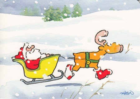 Witzige Weihnachtskarte Socken