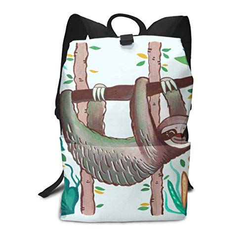Homebe Mochila Unisex, Mochilas y Bolsas,Lovely Birthday Sloth Printed Primary Junior High School Bag Bookbag