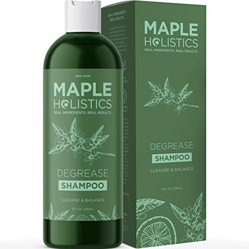 Maple Holistics Champú para cabello graso y el cuero cabelludo aceitoso - Champú natural para las mujeres y los hombres - Tratamiento fortalecedor del cabello - Cuidado del Cabello Hermoso - Aclarar Shampoo libre de sulfatos