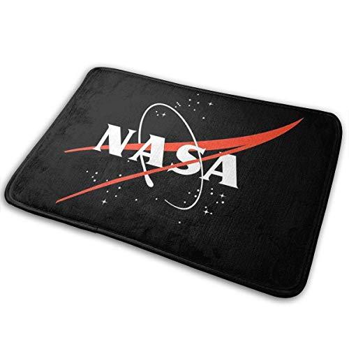 rouxf Fußmatte mit NASA-Logo, Raumfahrt-Aufschrift: Astronaut Welcome, Fußmatte, Fußabstreifer, 39,9 x 59,7 cm