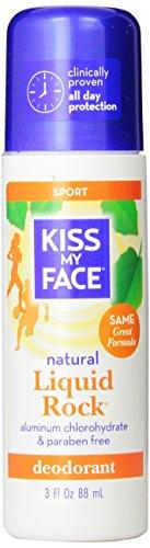 Kiss My Face Liquid Rock Aluminum Chlorohydrate Free Roll-on Deodorant, Sport, 3 Ounce (1800602)