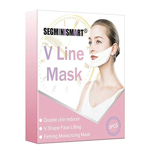 V Gesichtsmasken,V-Form Maske V-Linie Chin Lift Maske V-Shaped Slimming Mask Lifting Up Firming Moisturizing Gesichtspflege