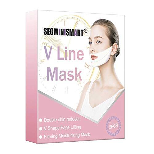 V Line Máscara,Facial Reafirmante Mascarilla,máscara de elevación V para levantamiento de mentón, máscara de elevación intensa de doble capa