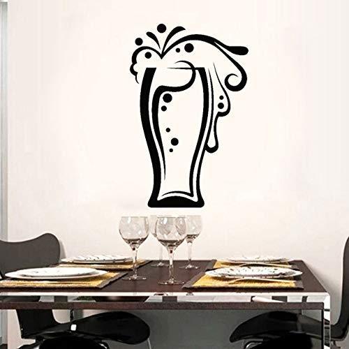 Vasos Colección De Bebidas Taza De Cerveza Calcomanía De Vinilo Cortada Pegatinas De Pared Decoración Del Hogar Cocina Película De Transferencia Autoadhesiva Mural 42X65Cm