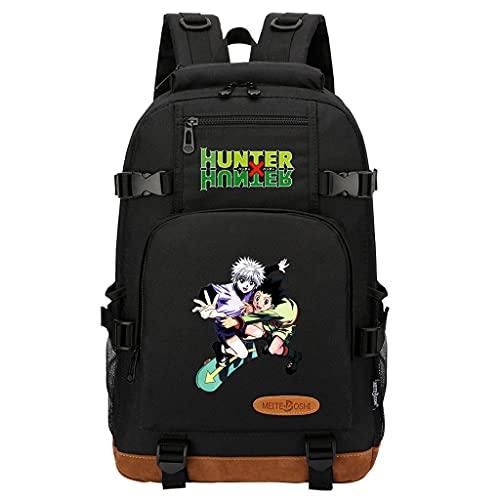 Hunter x Hunter Rucksack Killua Hisoka Gon Kurapika Cosplay Backpack, Rucksack Anime Hunter Manga Merch Bag, 3D-Druck Rucksäcke Schultasche Laptop Daypacks Travel Casual Bags (38)