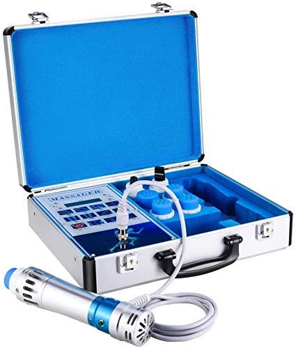 InLoveArts Instrument de traitement par ondes de choc Instrument de traitement par ondes de choc extracorporelles électromagnétiques 7 émetteurs, soulage profondément la douleur, soulage le masseur