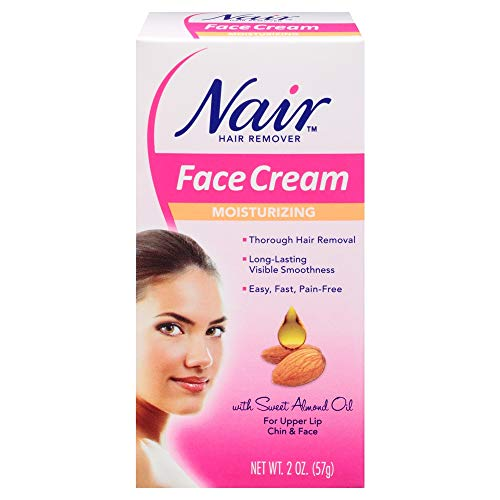 Nair Hair Removal Cream For Face With Special Moisturizers, 2-Ounce Bottles (Pack Of 4) by Nair