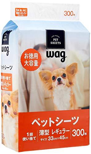 [Amazon Brand] Wag Pet Sheets, Thin, Regular, 1 Disposal, 300 Sheets