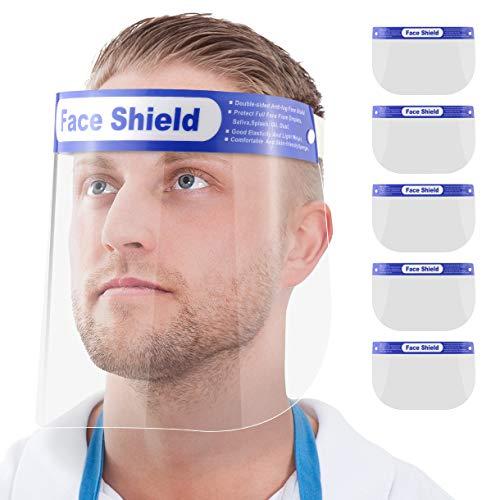 5X Blumax Visier Gesichtsschutz - aus robustem Kunststoff – Face Shield – Schutzschild Gesicht - klare Sicht - frei von Kratzer