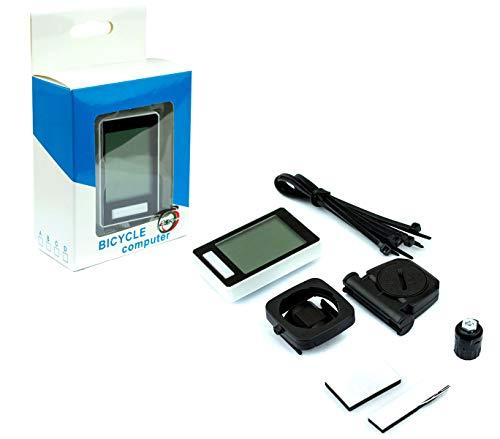 MediaWaveStore A13040 Tacómetro y cuentakilómetros para Bicicletas Wireless 14 Funciones