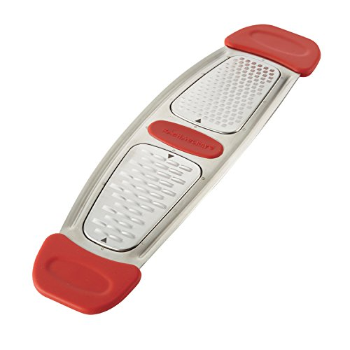 Rachael Ray Multi Stainless Steel Grater, Red