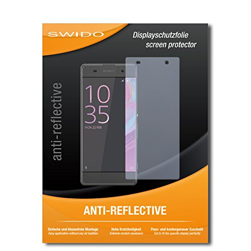 SWIDO Schutzfolie für Sony Xperia XA [2 Stück] Anti-Reflex MATT Entspiegelnd, Hoher Festigkeitgrad, Schutz vor Kratzer/Bildschirmschutz, Bildschirmschutzfolie, Panzerglas-Folie