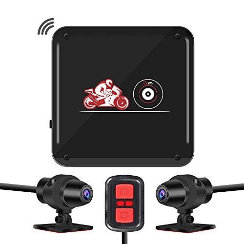 VSYSTO バイク用 ドライブレコーダー 前後カメラ 超暗視機能 全体防水 P6Fディスプレイ無し版 WiFi機能 SONY IMX323センサー 1080P 全国LED信号機対策 130°広角 GPS対応(別売) リモコン付き Gセンサー 常時録画 ループ録画 最大256GBカード対応 日本語説明書 一年間品質保証 P6FL