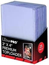 "Ultra Pro 3"" x 4"" Super Clear Premium Toploader Card Protector 