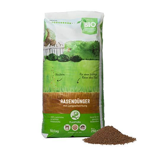 Plantura Bio-Rasendünger mit 3 Monate Langzeit-Wirkung, 10,5 kg, ideal im Frühjahr und Sommer, Dünger gegen Moos, staubarmes Granulat, unbedenklich für Haustiere