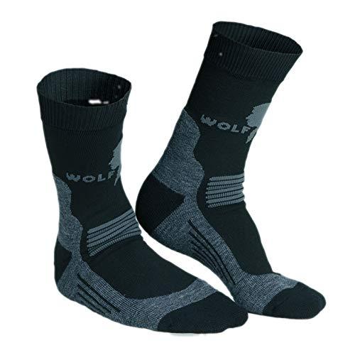 Wolf Camper Technical Sock, Socke mit Einer Wolle von höchster Qualität für Wanderstiefel, Arbeitsstiefel, Motorradstiefel oder im Schlafsack, Gr. 46-48