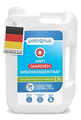 Patronus Giardien-Wischkonzentrat für Haustiere zur Desinfektion von Fußböden - 2 Liter Desinfektionsmittel zur Reinigung von Oberflächen gegen Giardien, Viren, Bakterien & Pilze - hautschonend