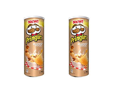 Pringles Picante de champiñones y crema, 165 g, paquete de 2