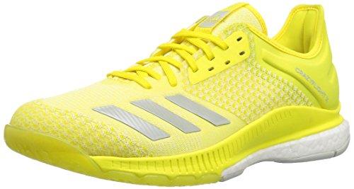 adidas Women's Crazyflight X 2 Volleyball Shoe, Shock Yellow/ash Silver/White, 8.5 M US