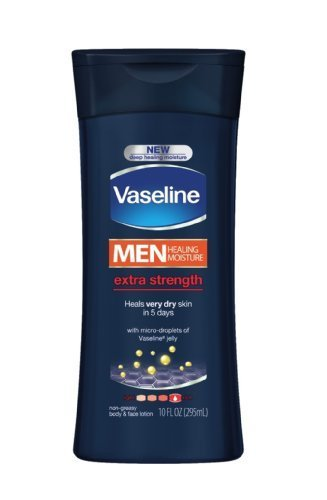 Vaseline Extra Strength Body and Face Lotion for Men, 10 Ounce by Vaseline (English Manual)