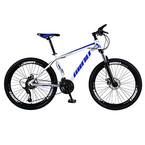 Mountain Bike 26 Inch Wheels Mountain Trail Bike Carbon Steel Full Suspension Frame Bicycles with Disc Brakes 2020 New Road Bikes for Adult Bicycle MTB Bikes (Blue - A)