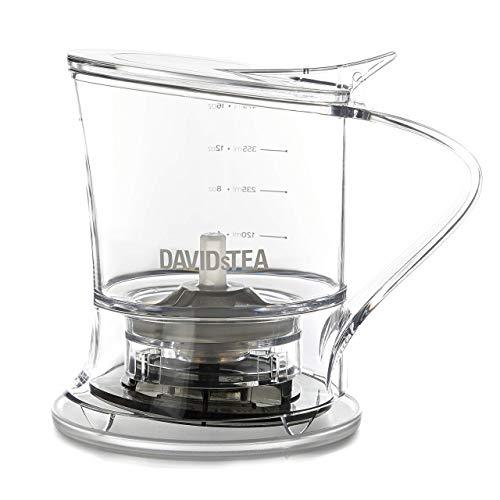 DAVIDsTEA Tea Steeper for Loose Tea with Lid, Bottom Dispensing Tea Infuser (16 oz / 473 mL)