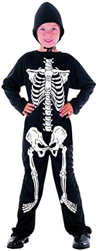 DEGUISE TOI - Déguisement Squelette garçon Halloween - M 7-9 Ans (120-130 cm)