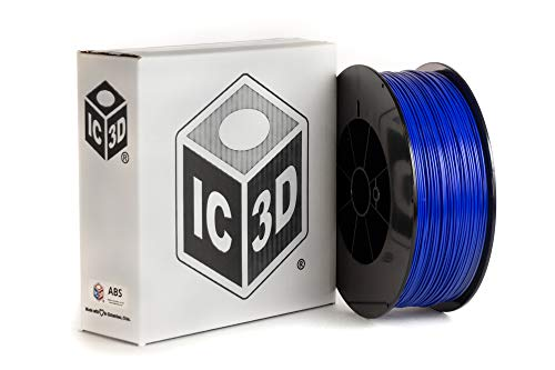 IC3D Blue 3mm ABS 3D Printer Filament - 2.5kg Spool - Dimensional Accuracy +/- 0.05mm - Professional Grade 3D Printing Filament - Made in USA