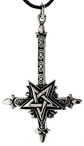 Kiss of Leather Kreuz Anhänger aus 925 Sterling Silber mit Kette 45-65 cm
