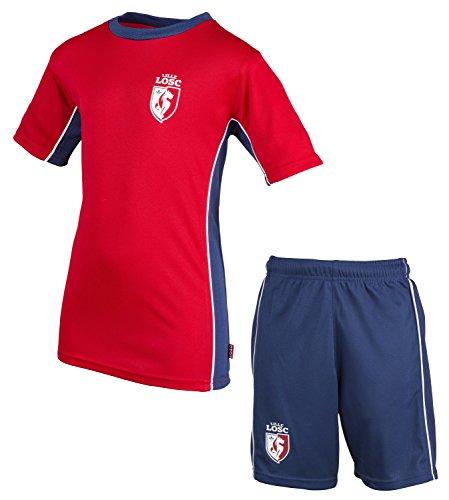 Lille OSC Trikot + Shorts LOSC, offizielle Kollektion, Kindergröße, Jungen 110 rot